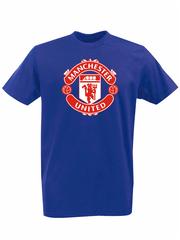 Футболка с принтом FC Manchester United (ФК Манчестер Юнайтед) синяя 001