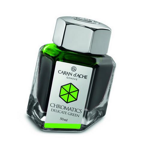 Carandache Чернила (флакон), зеленые (Delicate Green), 50 мл