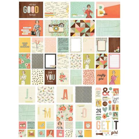 Набор карточек для Project Life -Sn@p! -The Reset Girl-122шт