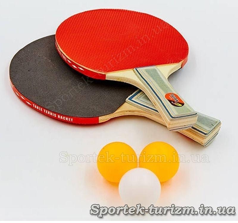 Набір для настільного тенісу Challenger Macical (MT-805) 2 ракетки і 3 кульки без упаковки