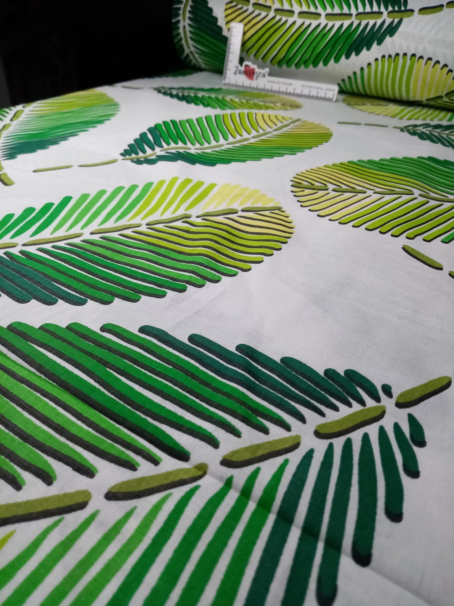 Премиум ранфорс Тропическая зелень