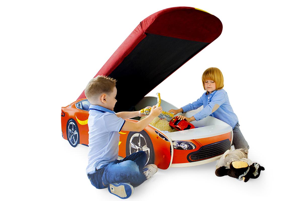 Кровать-машина «Бондмобиль красный»