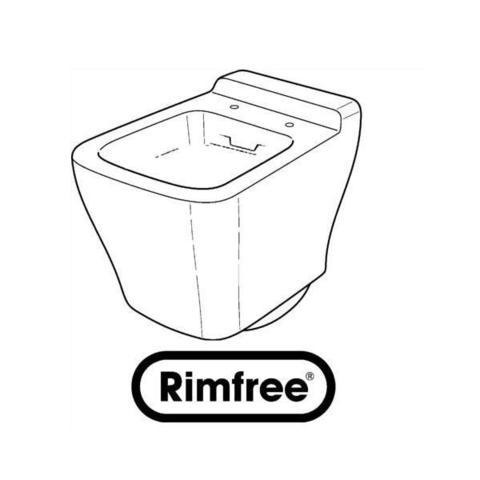 Унитаз безободковый подвесной Кeramag MyDay rimfree