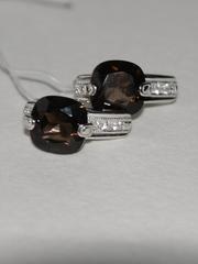1100087-раухтопаз (кольцо из серебра)