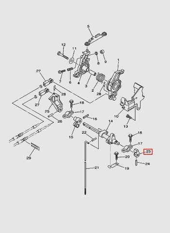 Рычаг переключения передач для лодочного мотора T40 Sea-PRO (16-23)