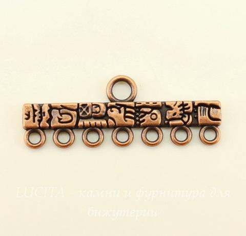 "Коннектор ""Тотем"" (1-7) 39х14 мм (цвет - античная медь)"