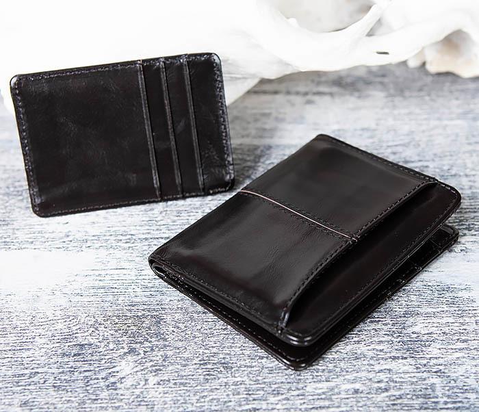 WL297-1 Кожаный кошелек с футляром для карточек