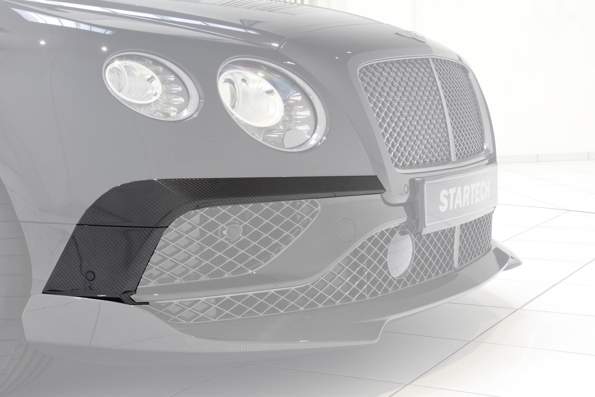Карбоновый спойлер переднего бампера Startech Style для Bentley Continental