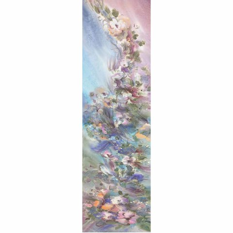 Шелковый шарф батик Жемчужина С-57