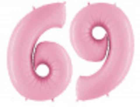Шар-цифра, фольга, Розовый,