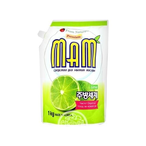 Средство для мытья посуды Лайм (сменный блок) MaM 1кг CS Chemtech Корея