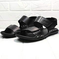 Мужские сандалии босоножки черные Zlett 7083 Black.