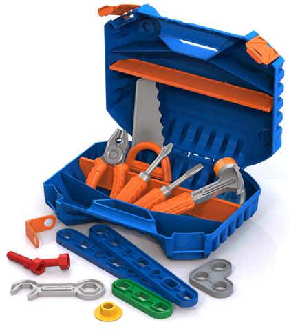 Набор инструментов с конструктором, 47 предметов (в чемодане), Нордпласт, 545