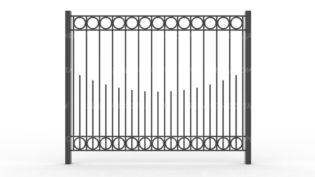 Забор из профильной трубы ZBR0142