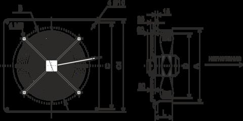 Осевой вентилятор низкого давления Ровен YWF-6D-800 with plate (ZF)