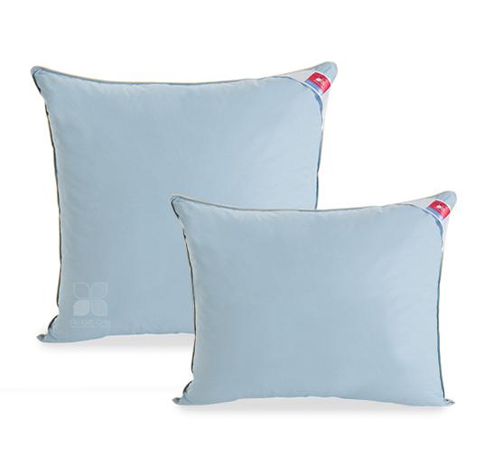 Пуховые Подушка пуховая Коллекция  Камелия пух 1 категории цвет голубой. подушка_камелия5.jpg
