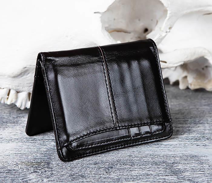 WL297-1 Кожаный кошелек с футляром для карточек фото 03