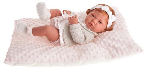 Munecas Antonio Juan Кукла-младенец Розарио в розовом, 42 см (5034P)