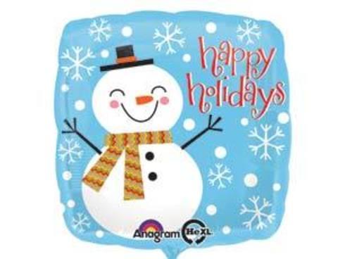 Фольгированный шар Снеговик счастливый