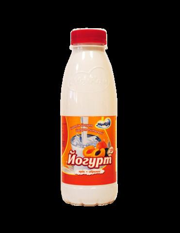 Йогурт питьевой Абрикос 1,5% 0,45 л пл/б МолКом КАЗАХСТАН
