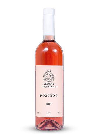 Вино Розовое  сухое розовое  ТЗ Усадьба Перовских 0,75л.