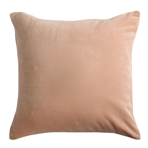 Подушка декоративная из хлопкового бархата цвета пыльной розы из коллекции Essential, 45х45 см