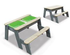 Песочница Exit Toys Aksent со скамейкой