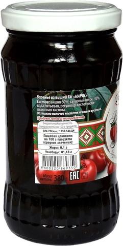 Варенье из вишни, 380 гр.