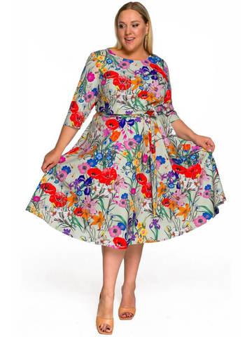 Платье из крепа мятное