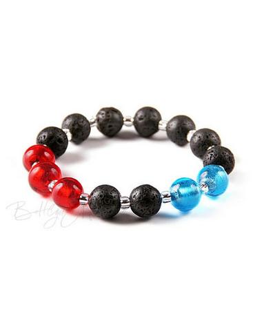 Браслет Murano Flex красно-голубой с черным