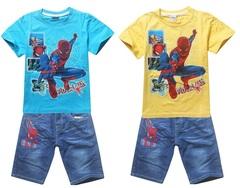 Человек паук комплект детский футболка и шорты