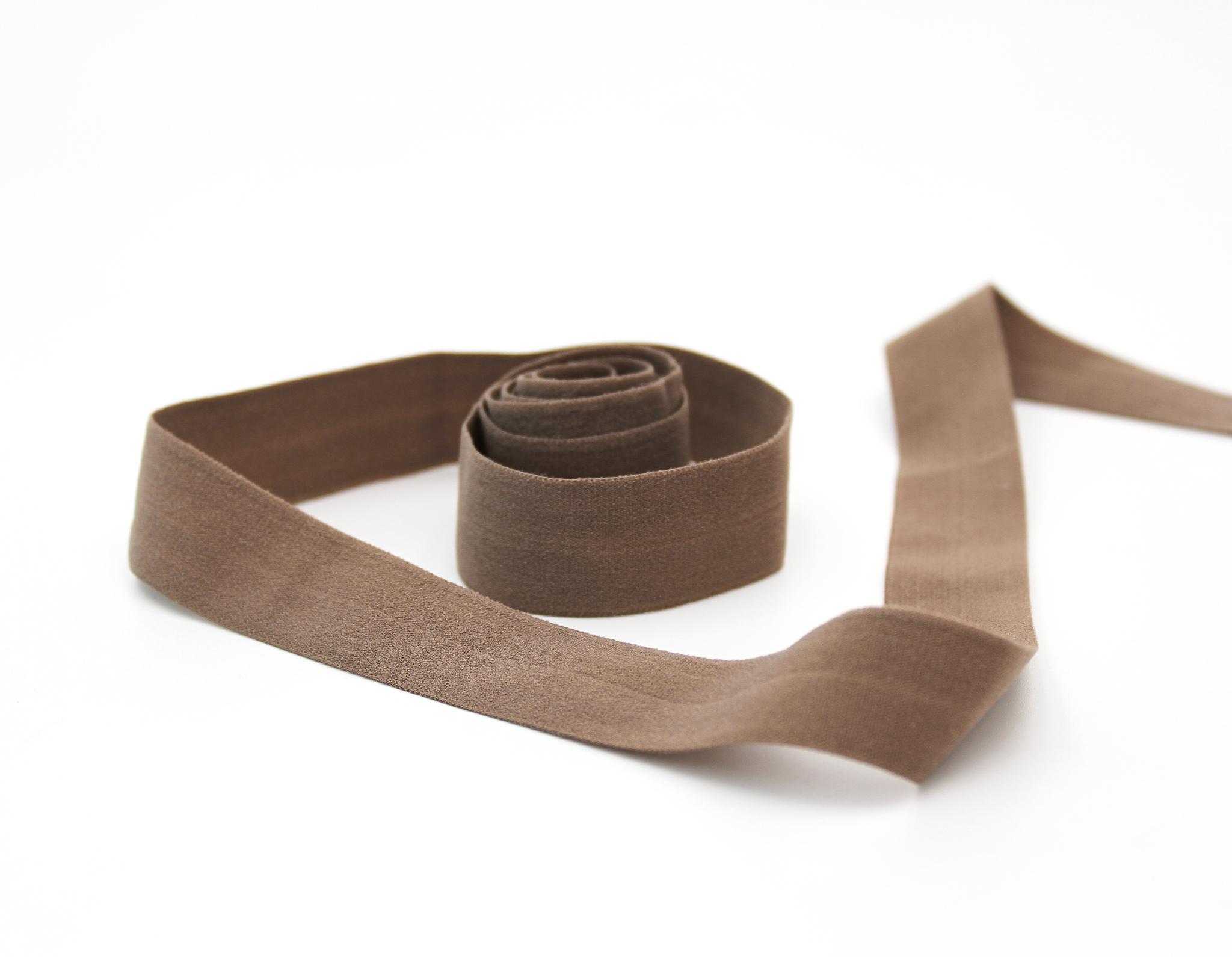 Косая бейка спандекс,20 мм,шоколад