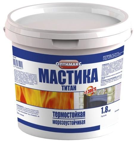 Мастика Титан Оптилюкс/Оптимакс 1,8кг ведро Ижсинтез
