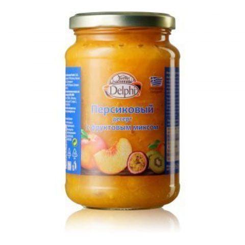 Джем персиковый с фруктовым миксом Delphi 360 гр