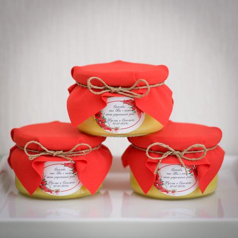 Бонбоньерка с медом на свадьбу, 250 грамм