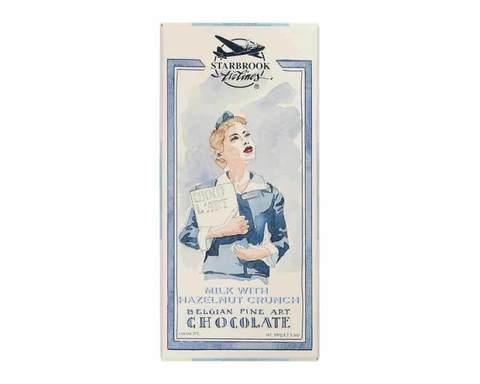 Молочный шоколад Starbrook Airlines дробленный фундук, 100 г
