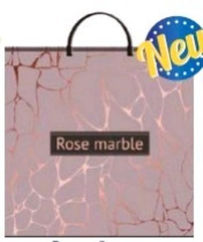 Пакет ПЭ с пластмассовыми ручками 36х37+10 (100) Т (по 100) (Розовый мрамор)