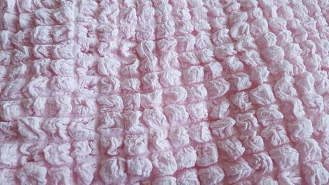 Комплект чехлов для дивана и двух кресел розовый без оборки.