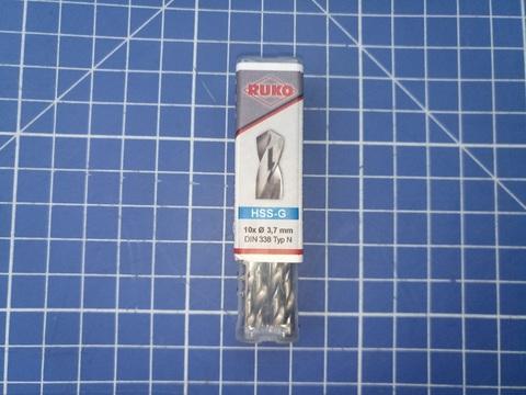 Сверло по металлу ц/x 3,7x70/39мм DIN338 h8 5xD HSS-G 118° Ruko 214037 (ВБ)