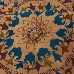Модуль мягкий Secret De Maison RADJA (mod. MA-108) cotton canvas sujani, желтый с цветами