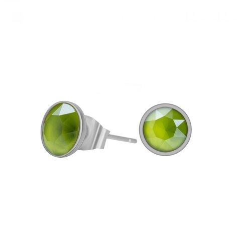 Пусеты Crystal Lime SWE298 CLIM S