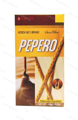 Соломка наполненная шоколадной глазурью Pepero Choco Filled, Корея, 50 гр.
