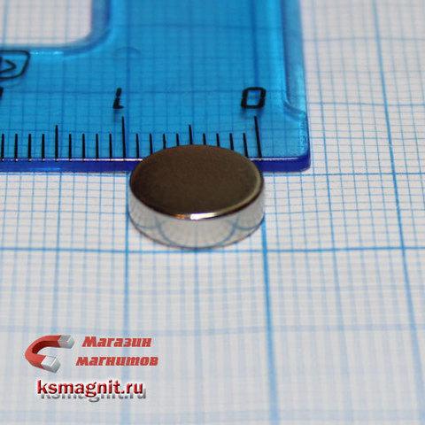 Неодимовый магнит диск 10*3 мм