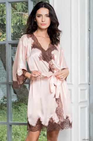 Короткий халат Mia Amore MARILIN (70% шелк)