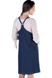 Сарафан для беременных 09863 темно-синий