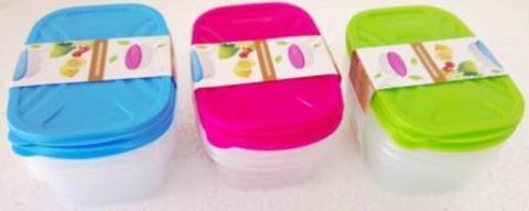 Контейнер пищевой пластик набор 4 шт 0,3л Color