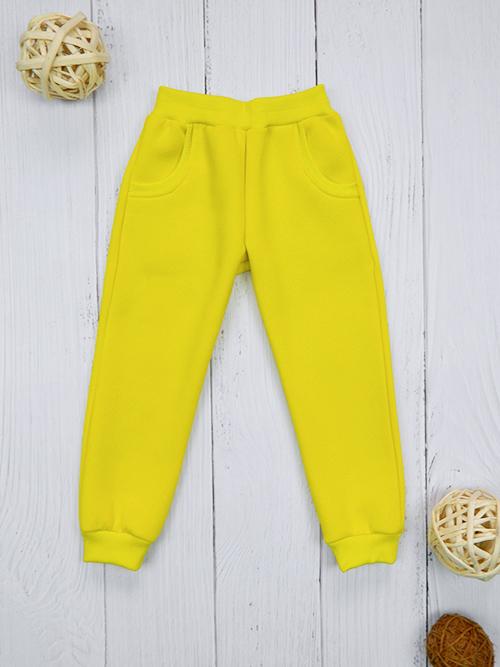 Брюки с карманами, 2401, желтые