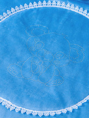 Велюровый конверт одеяло на выписку зимний Чудо (голубой)