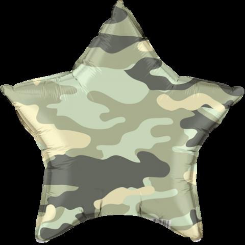 Звезда, Зеленый камуфляж (46см)