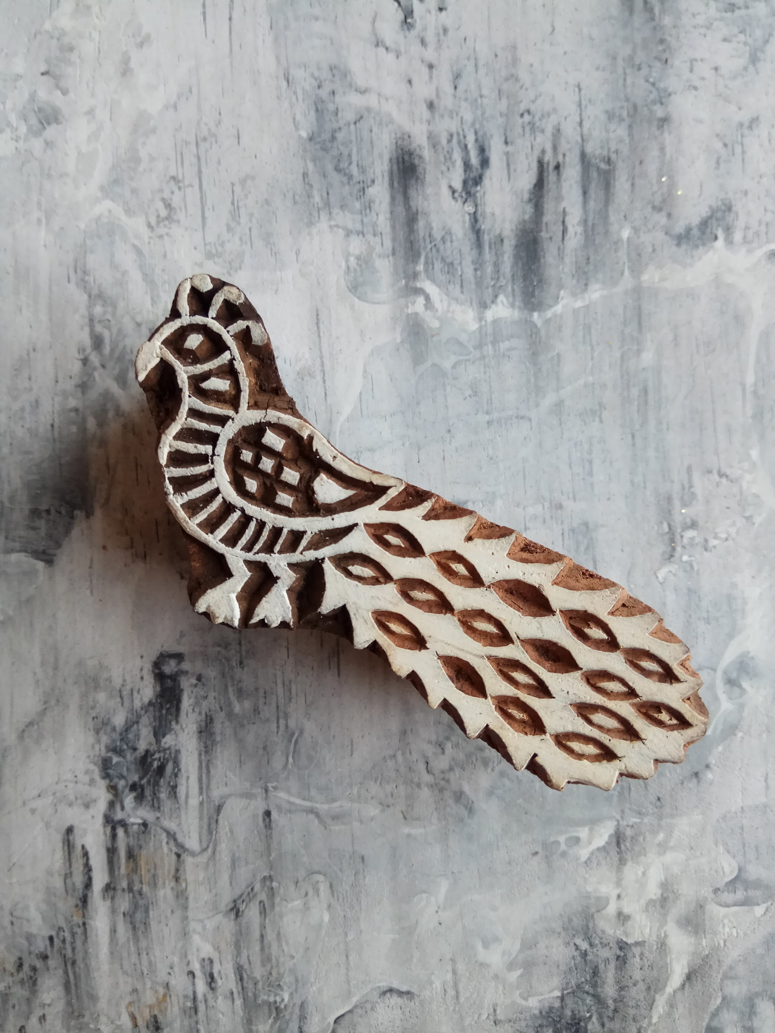 Штамп деревянный